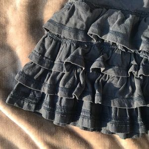 Abercrombie and Fitch Ruffled Navy Blue Skirt